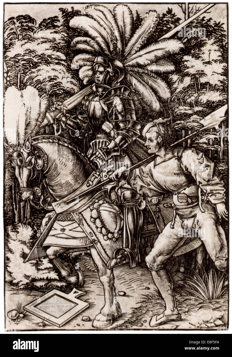 Knight and Halberdier. Artist: Wechtlin, Hans (Johannes) (active 1502-