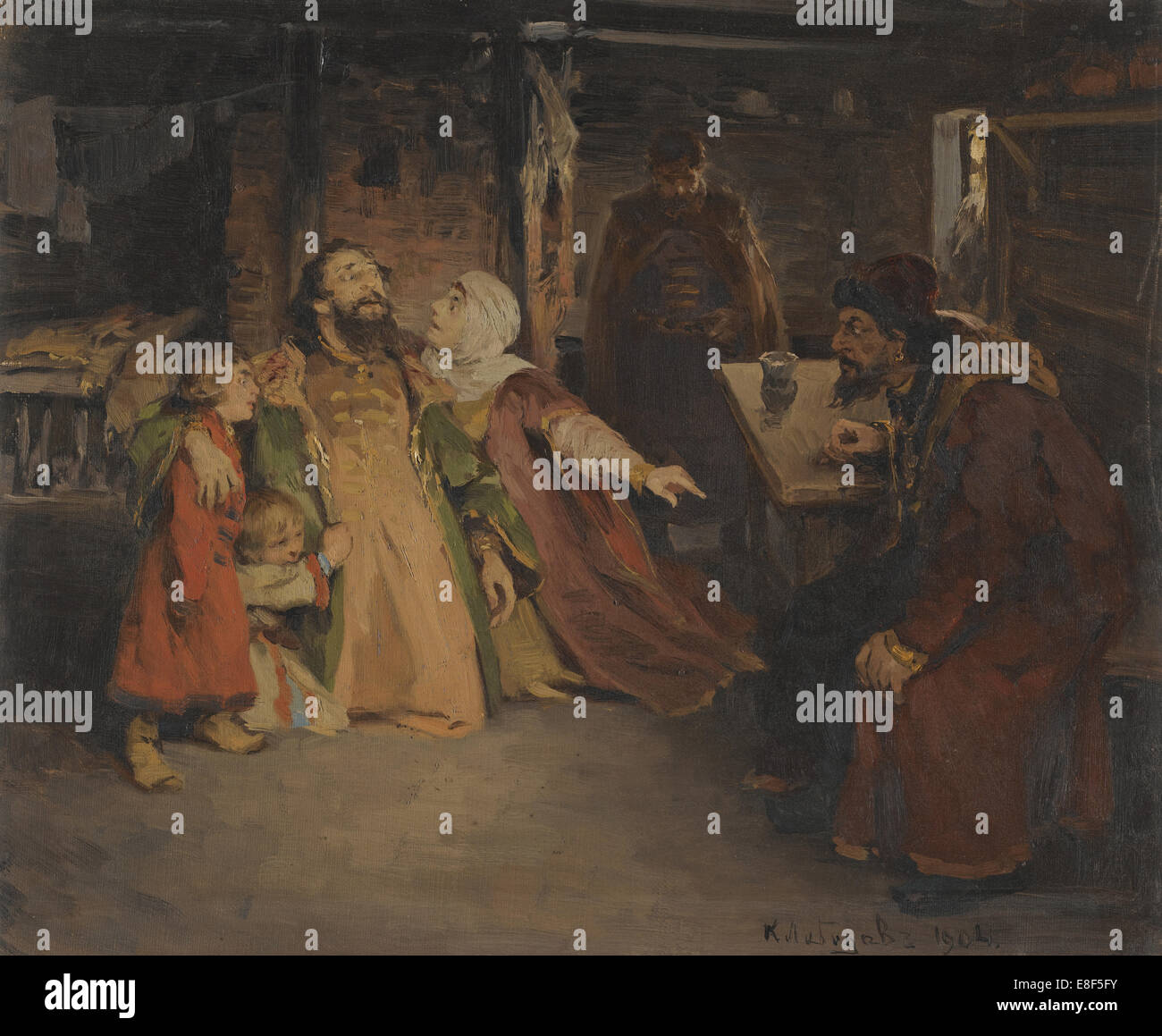 Ivan the Terrible. Artist: Lebedev, Klavdi Vasilyevich (1852-1916) Stock Photo