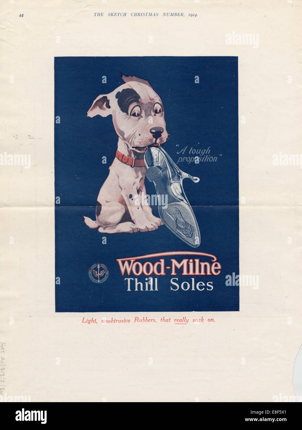 Wood-Milne Thill Rubber Soles, 1924. - Stock Image