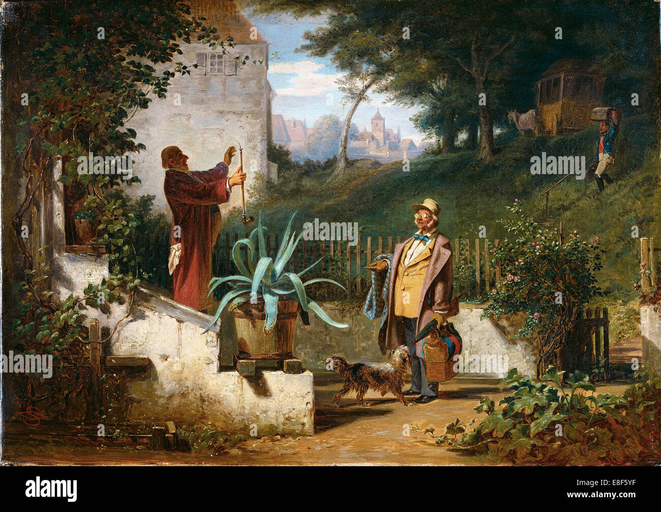 Childhood Friends. Artist: Spitzweg, Carl (1808-1885) - Stock Image