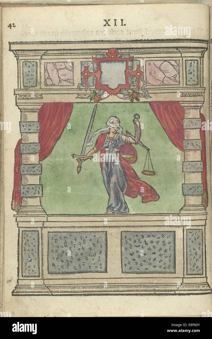 Personification of Justice. Artist: Leest, Antoni van (1543/7-1586/92) - Stock Image