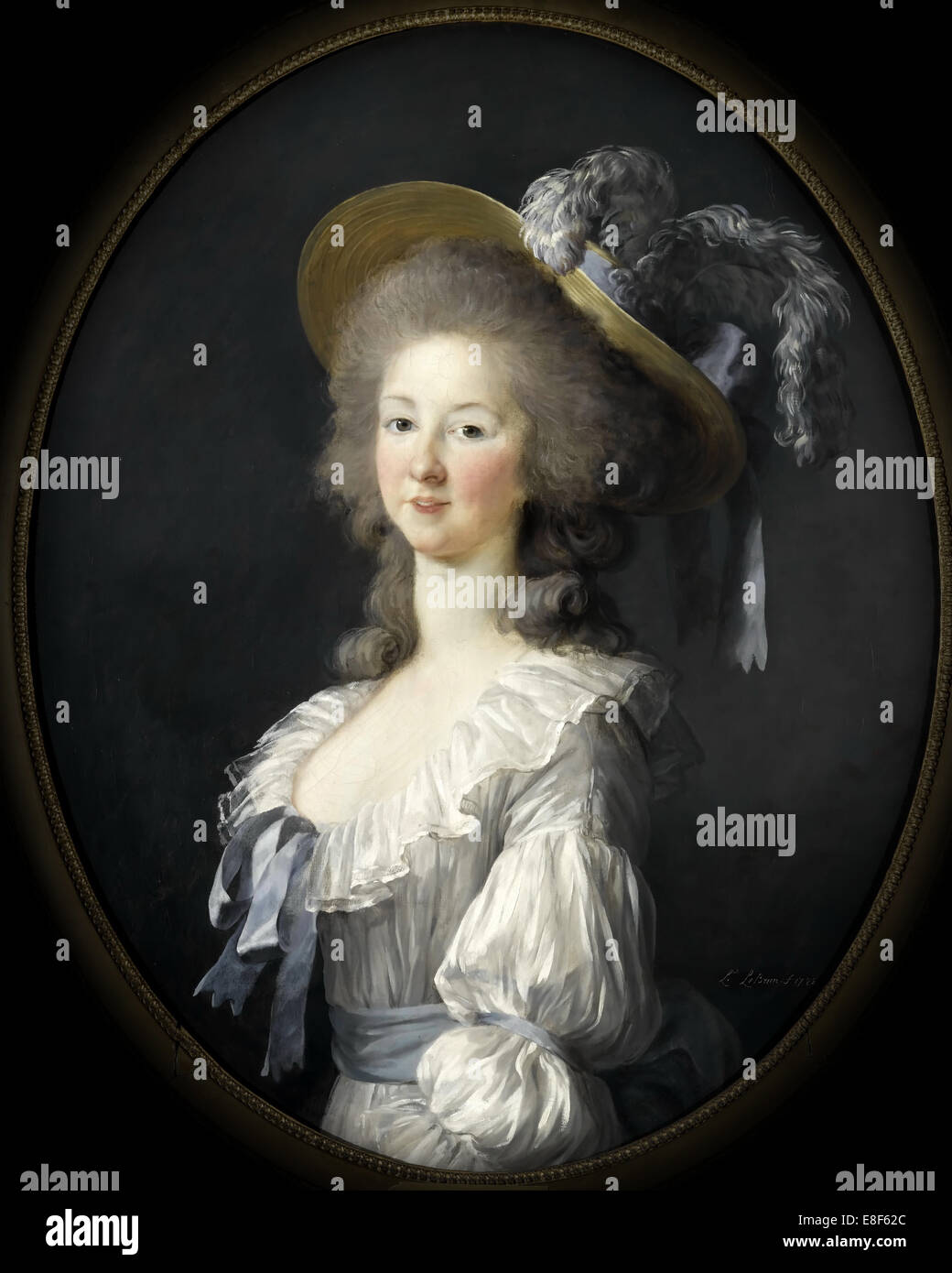 Portrait of Marie Louise of Savoy (1749-1792), Princess of Lamballe. Artist: Vigée-Lebrun, Marie Louise Elisabeth - Stock Image