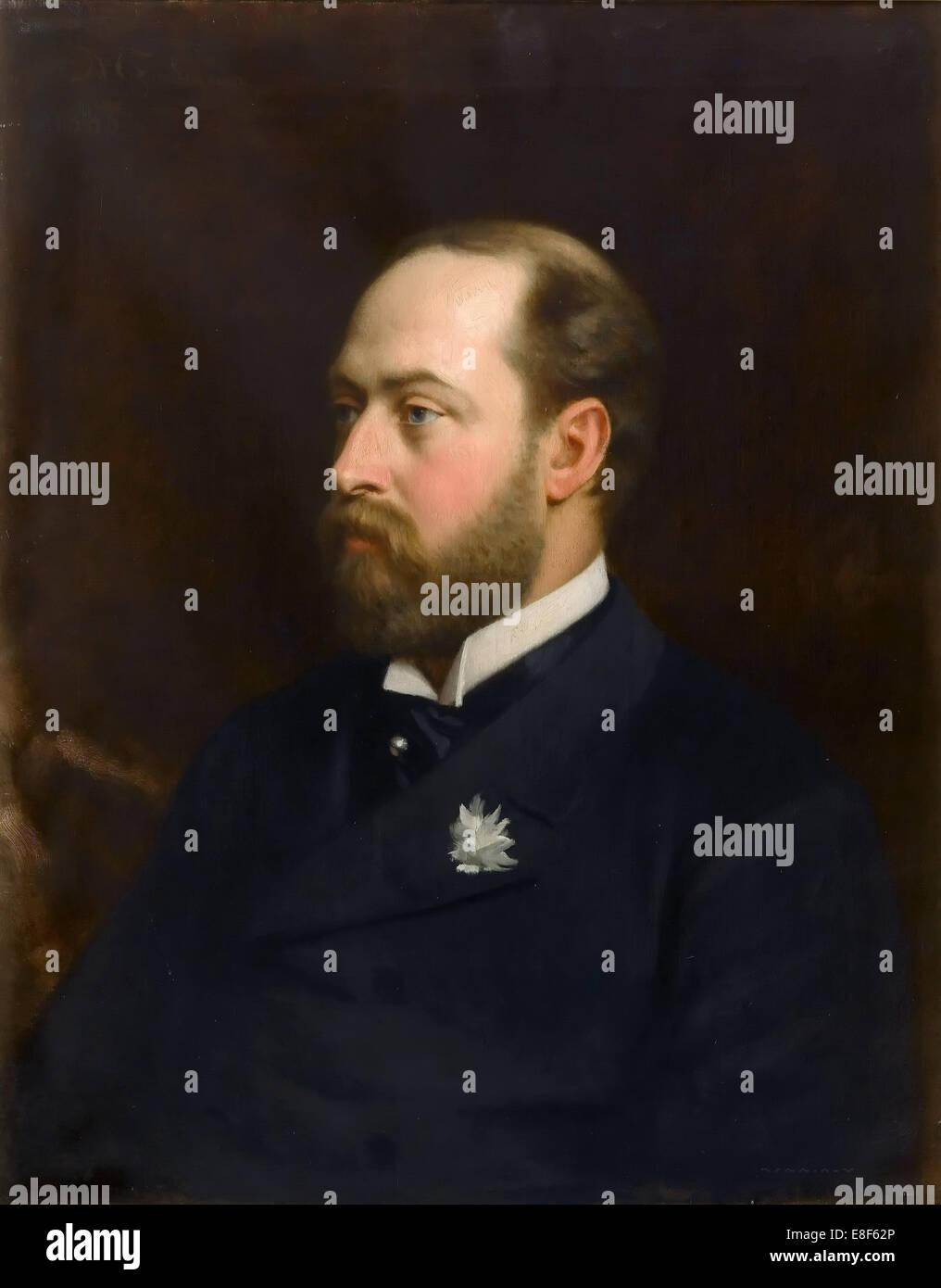 Edward VII, King of the United Kingdom (1841-1910). Artist: Gordigiani, Michele (1835-1909) - Stock Image