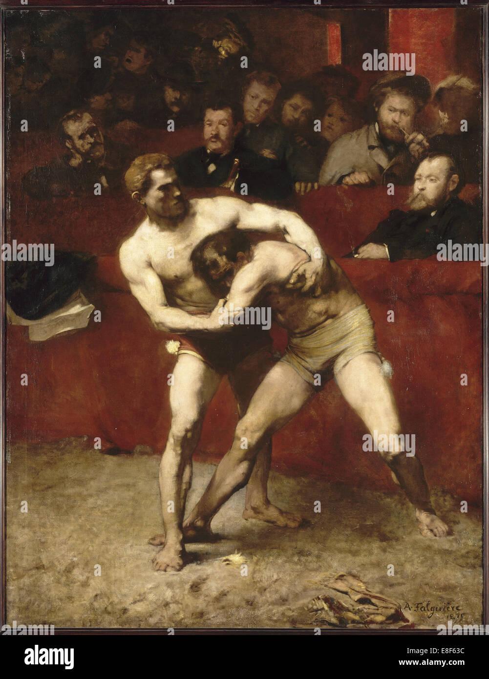 Wrestlers. Artist: Falguière, Alexandre (1831-1900) - Stock Image