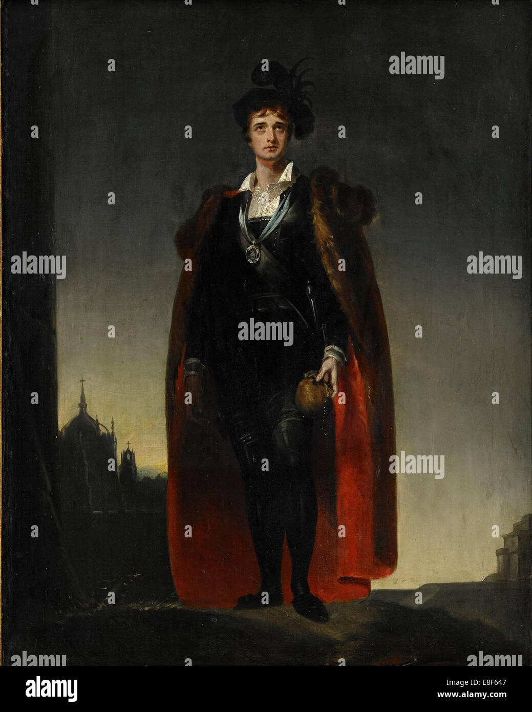 John Philip Kemble as Hamlet. Artist: Lawrence, Sir Thomas (1769-1830) - Stock Image