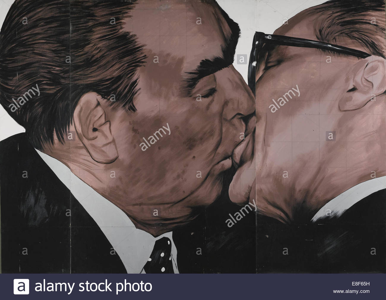 Fraternal Kiss. Artist: Vrubel, Dmitri Vladimirovich (*1960) - Stock Image