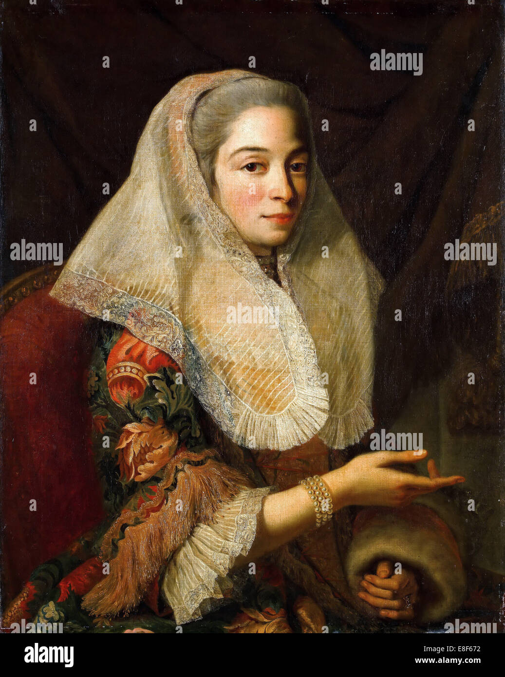 Portrait of a Young Maltese Lady. Artist: Favray, Antoine de (1706-1791) - Stock Image