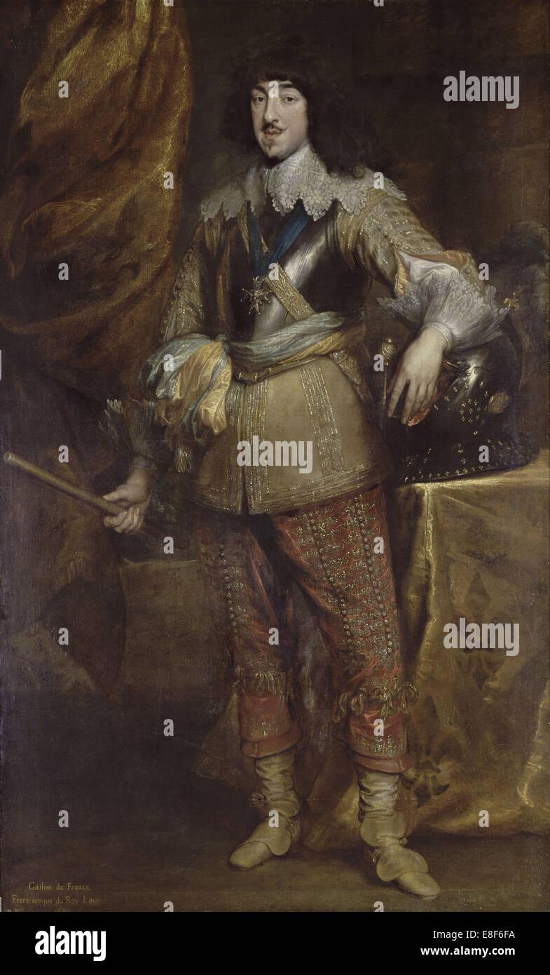 Portrait of Gaston of France, duke of Orleans (1608-1660). Artist: Dyck, Sir Anthony van (1599-1641) - Stock Image