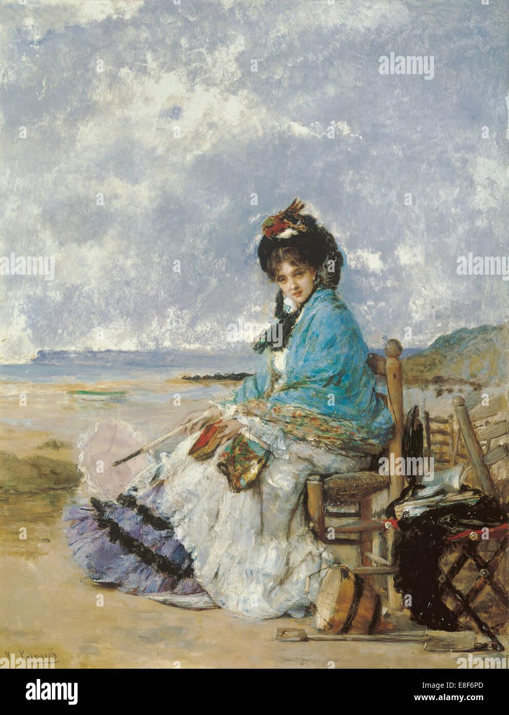 Summer Days. Artist: Palmaroli y Gónzalez, Vicente (1834-1896) - Stock Image