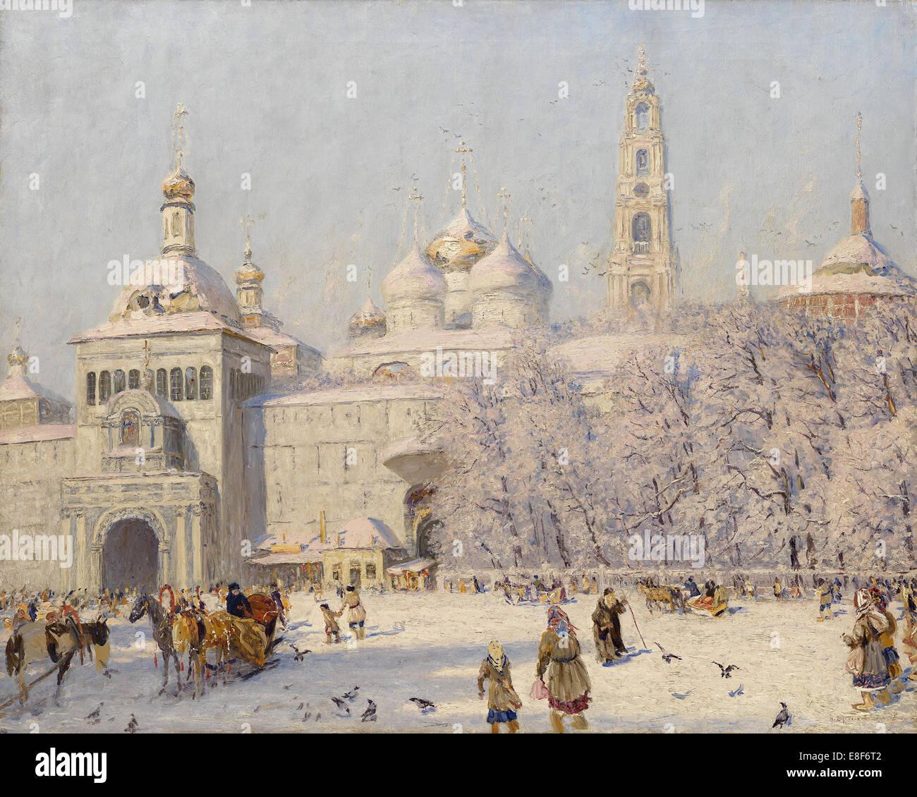 Blagovest. Artist: Dubovskoy, Nikolai Nikanorovich (1859-1918) - Stock Image