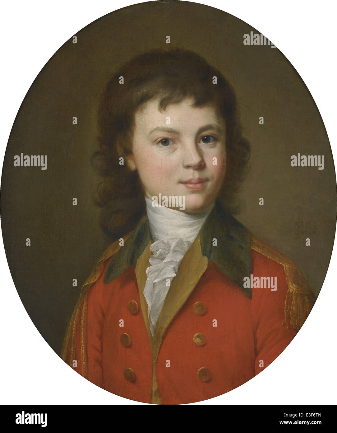 Portrait of Count Pavel Alexandrovich Stroganov (1774-1817), Aged 15. Artist: Voille, Jean Louis (1744-after 1803) - Stock Image
