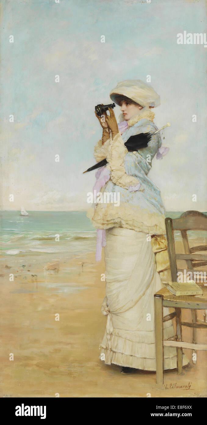 En vue. Artist: Palmaroli y Gónzalez, Vicente (1834-1896) - Stock Image