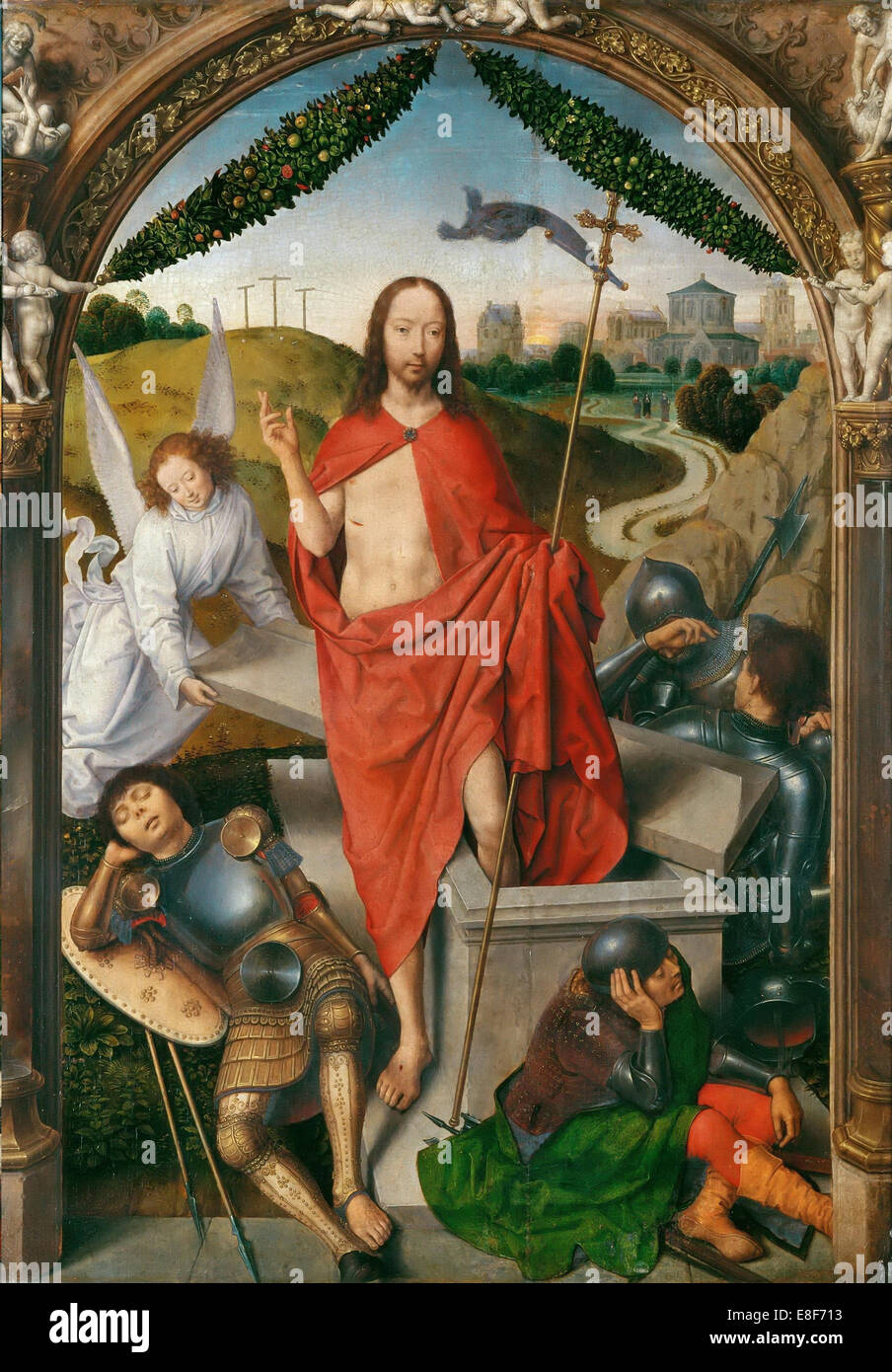 Triptych of The Resurrection (Central panel). Artist: Memling, Hans (1433/40-1494) - Stock Image
