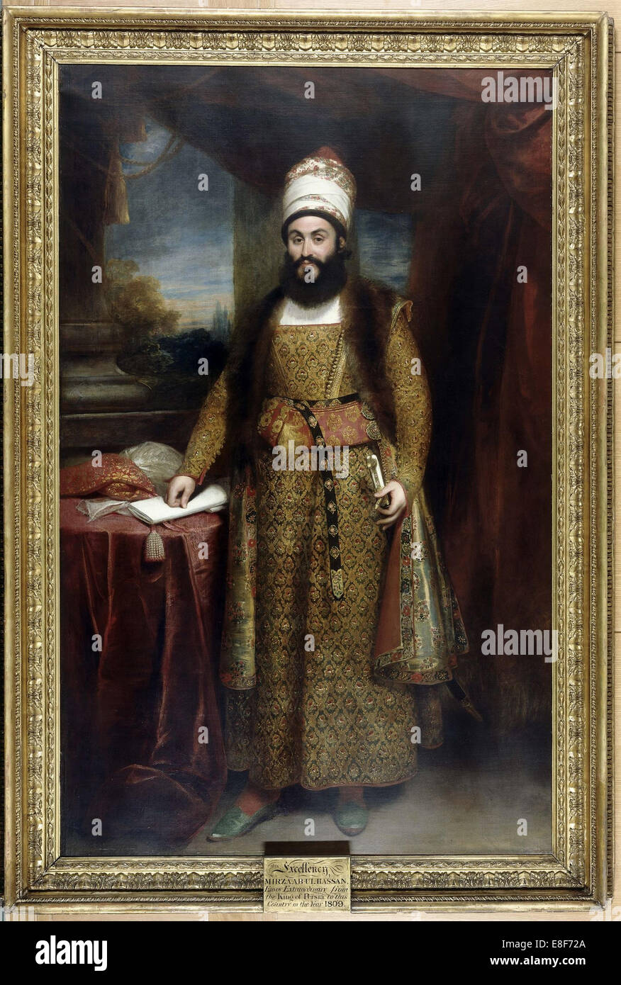 Portrait of Mirza Abul Hasan Khan Ilchi (1776-1846). Artist: Beechey, Sir William (1753-1839) - Stock Image