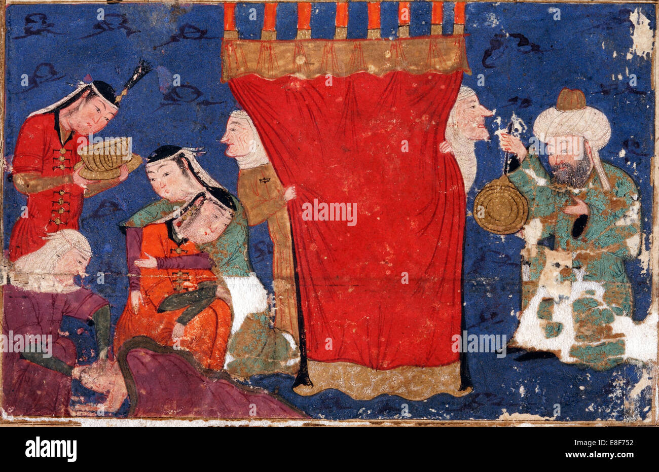The Birth of Alexander the Great. From: Eskandar-nameh (The Book of Alexander). Artist: Anonymous - Stock Image