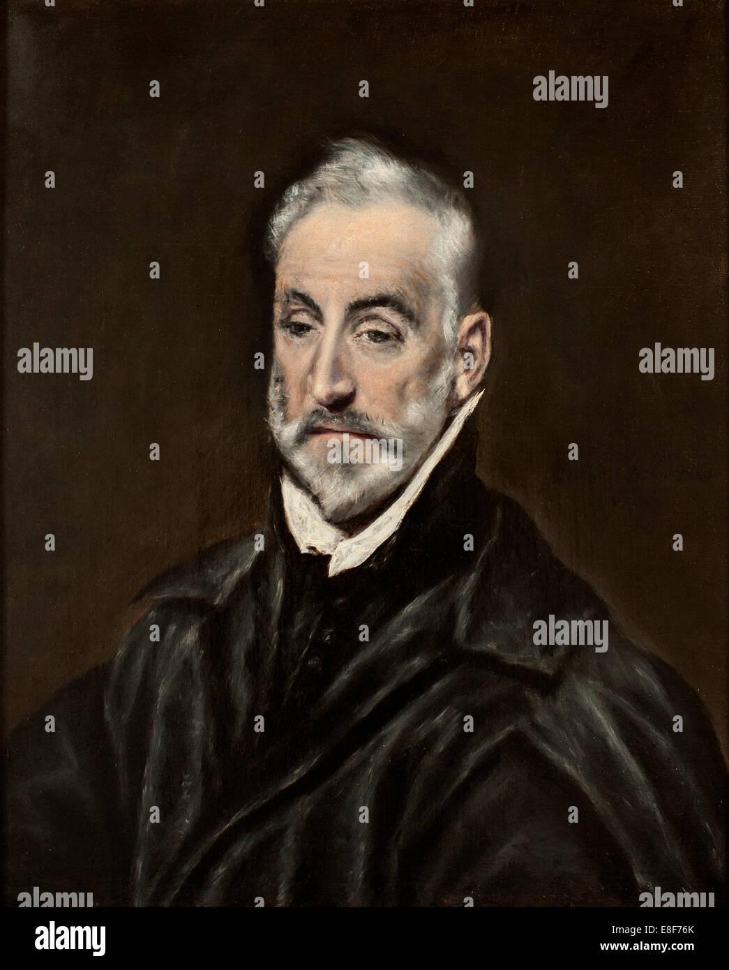 Portrait of Antonio de Covarrubias y Leiva. Artist: El Greco, Dominico (1541-1614) - Stock Image