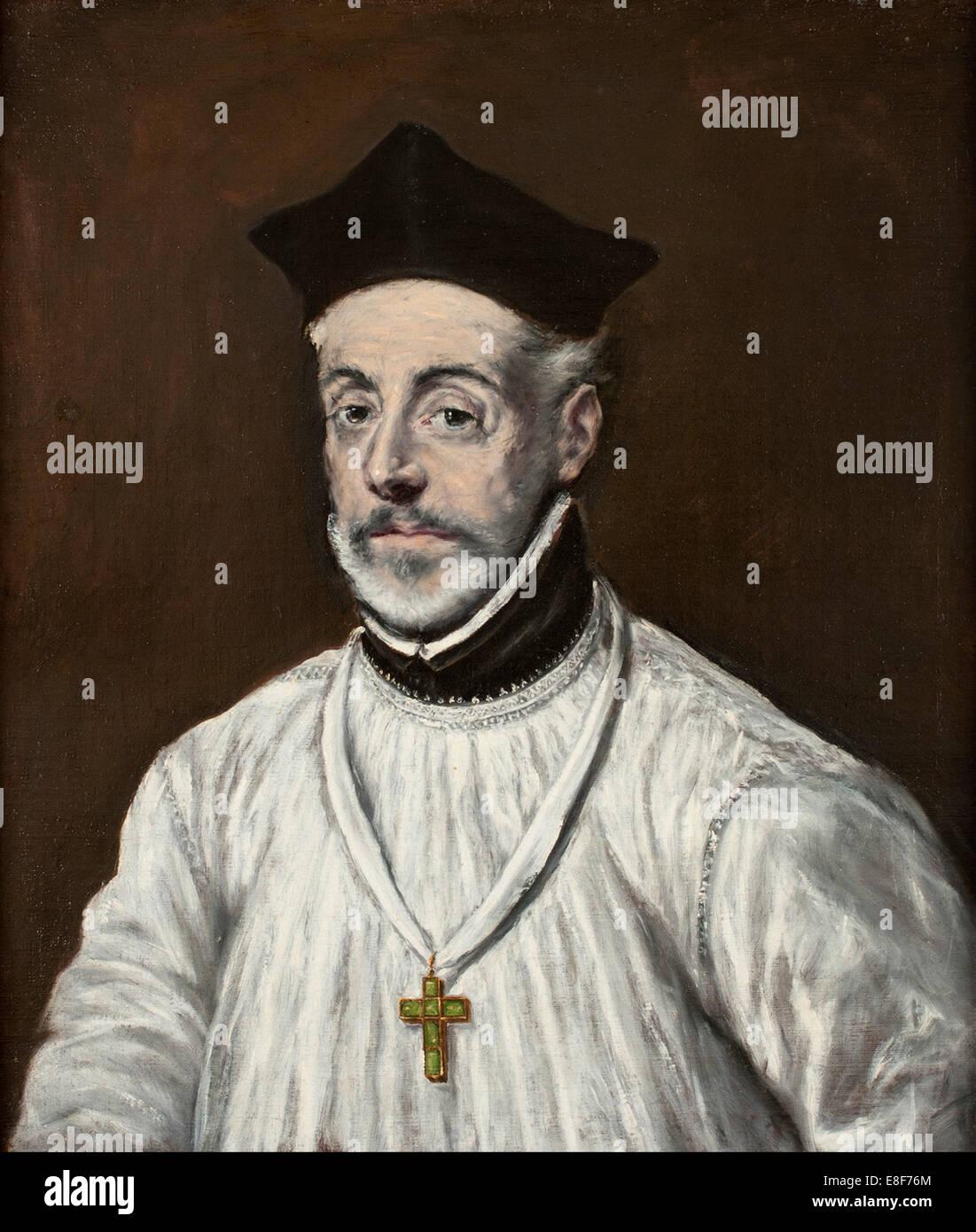 Portrait of Diego de Covarrubias y Leiva. Artist: El Greco, Dominico (1541-1614) - Stock Image