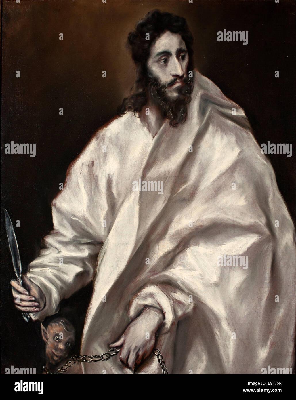 Saint Bartholomew. Artist: El Greco, Dominico (1541-1614) - Stock Image