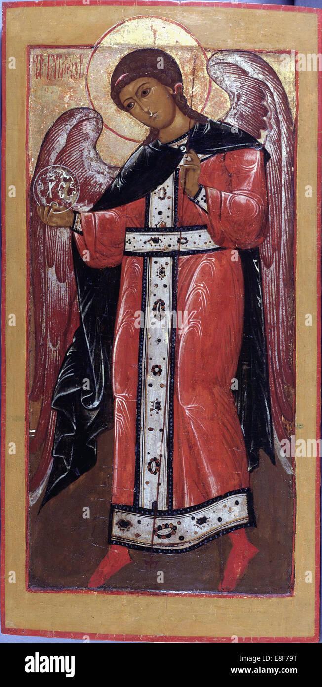 The Archangel Gabriel. Artist: Russian icon - Stock Image