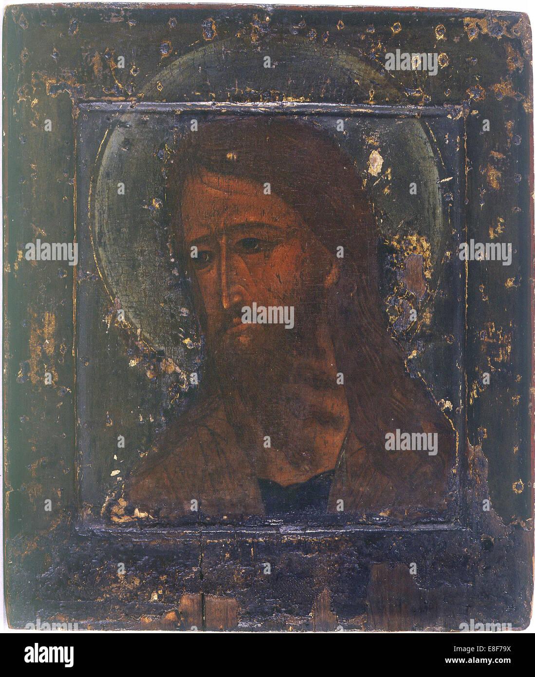 Saint John the Baptist. Artist: Russian icon - Stock Image