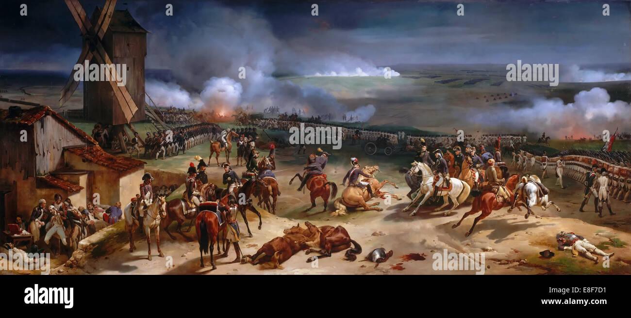 The Battle of Valmy, September 20th, 1792. Artist: Vernet, Horace (1789-1863) - Stock Image