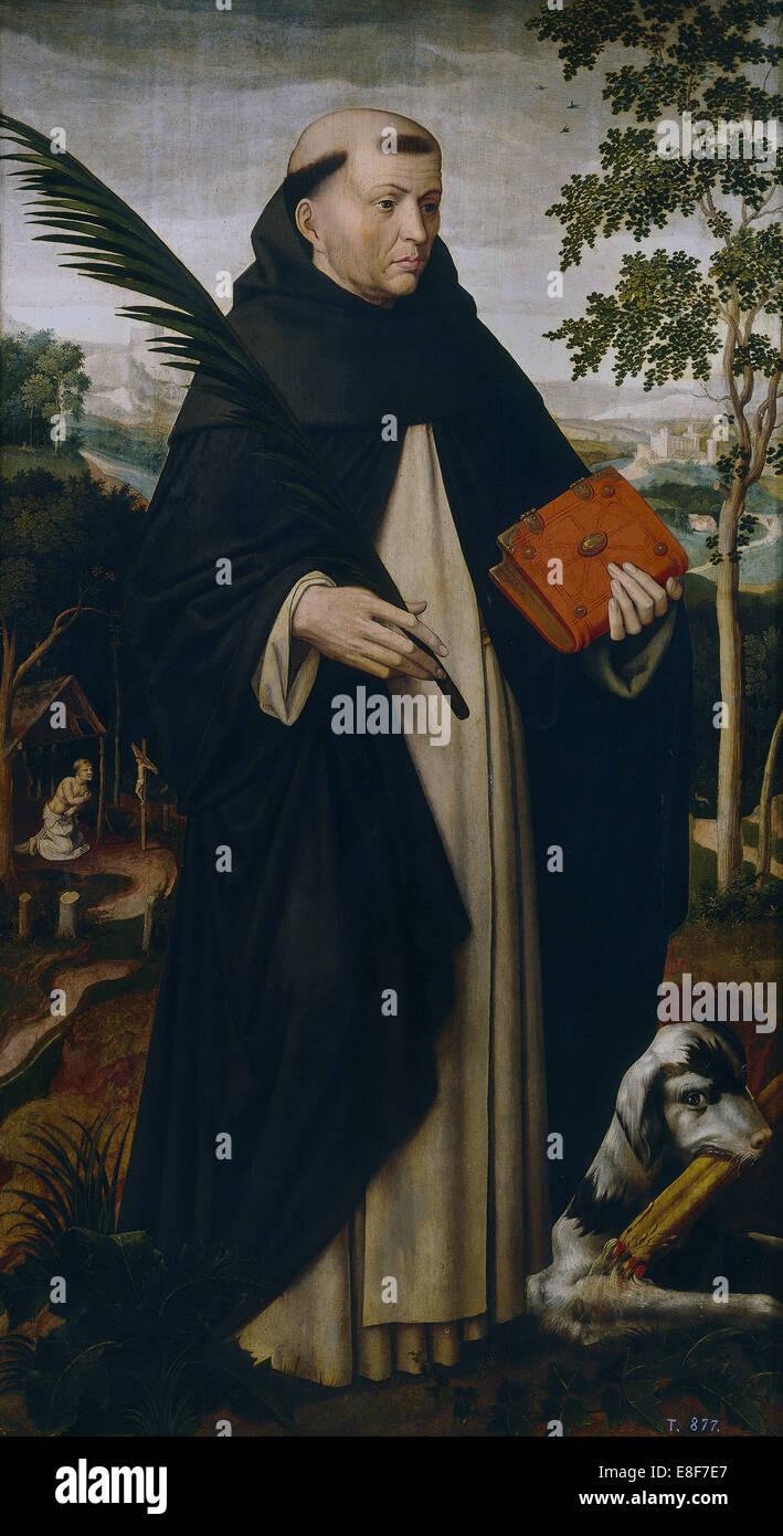Saint Dominic. Artist: Benson, Ambrosius (1495-1550) - Stock Image