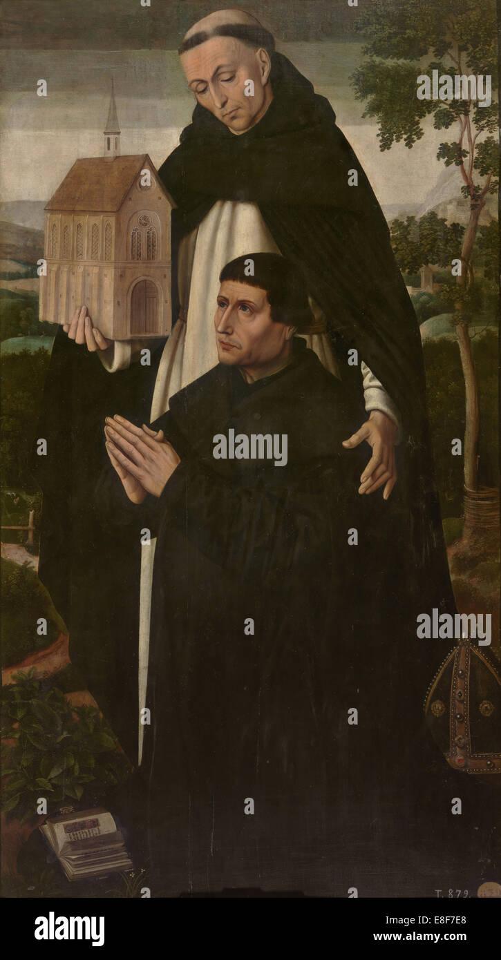Saint Thomas the Apostle. Artist: Benson, Ambrosius (1495-1550) - Stock Image