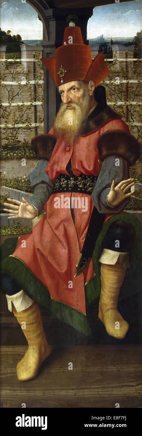 Zechariah. Artist: Provost (Provoost), Jan (1465-1529) - Stock Image