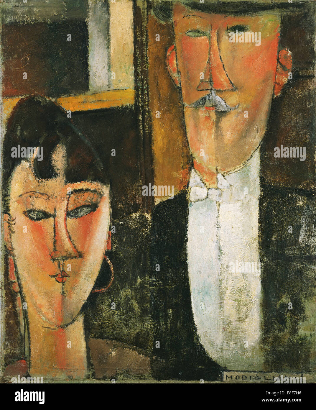 Bride and Groom. Artist: Modigliani, Amedeo (1884-1920) - Stock Image