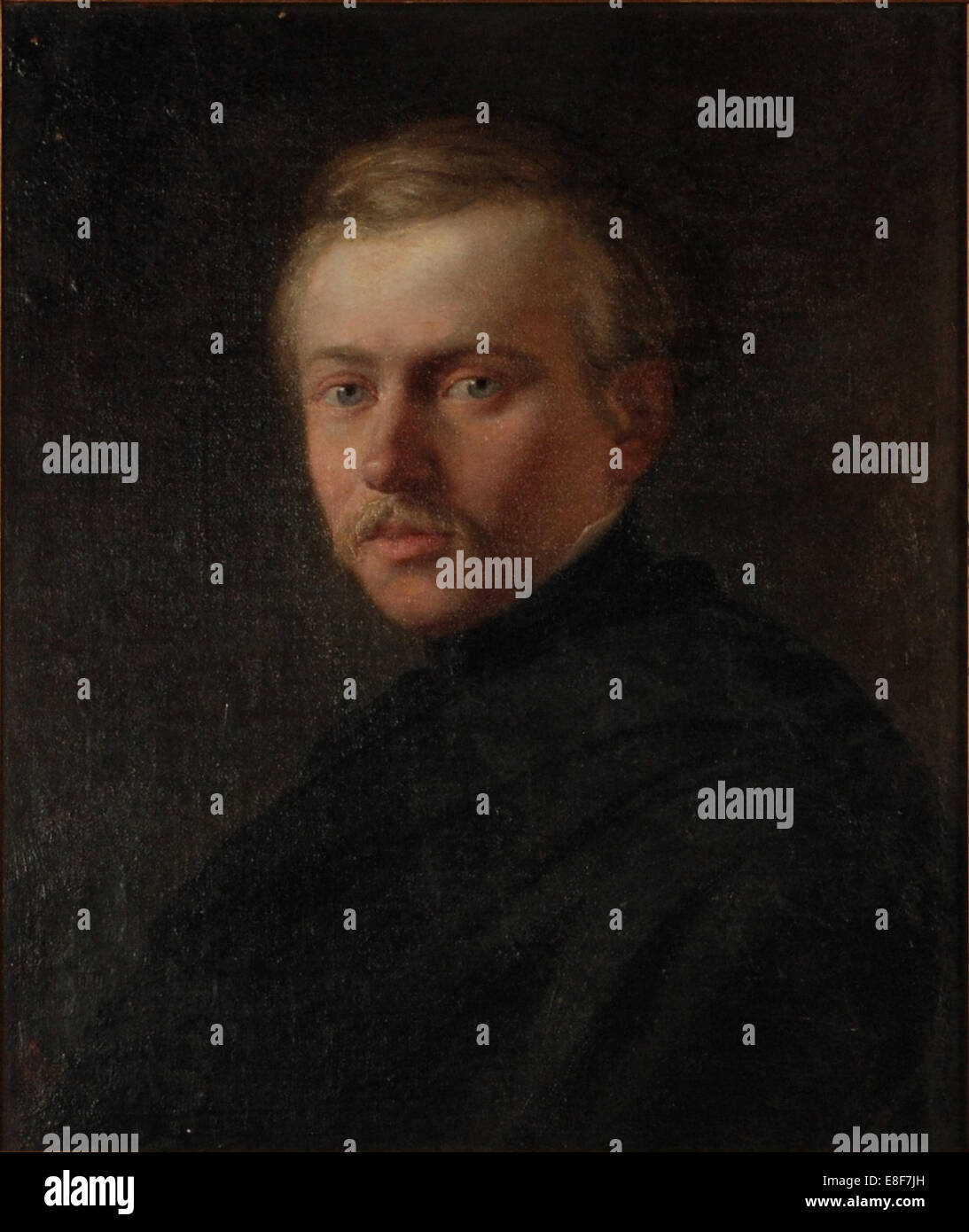 Portrait of the Architect Ivan Gornostayev (1821-1874). Artist: De Ladvez (Deladvez), Stepan (1817-1855) Stock Photo