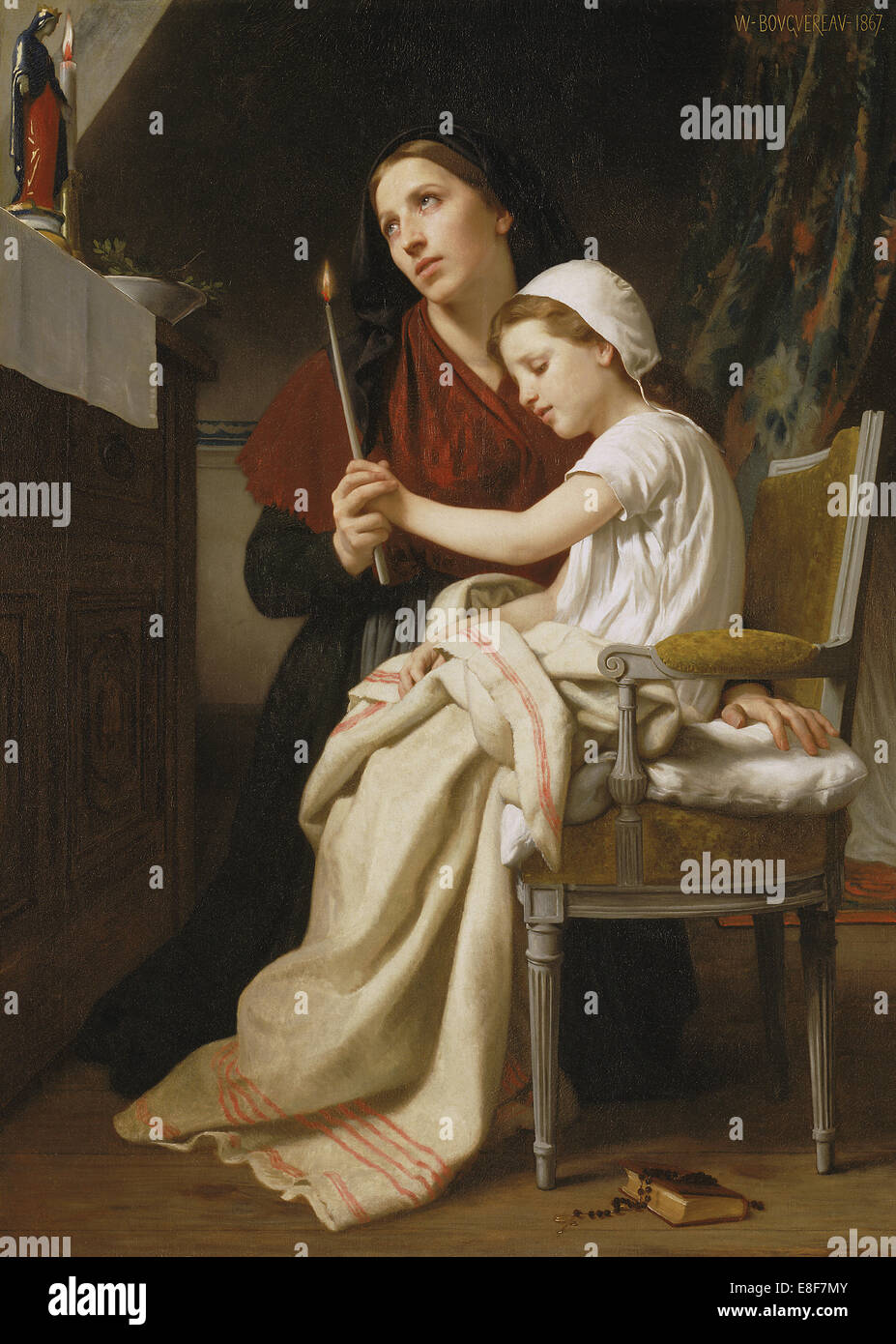 The Thank Offering. Artist: Bouguereau, William-Adolphe (1825-1905) - Stock Image