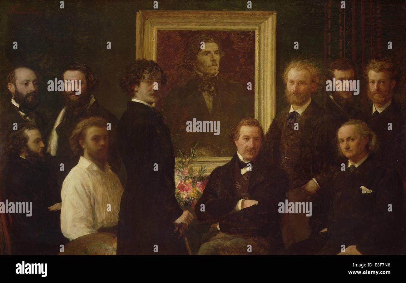 Hommage à Delacroix. Artist: Fantin-Latour, Henri (1836-1904) Stock Photo
