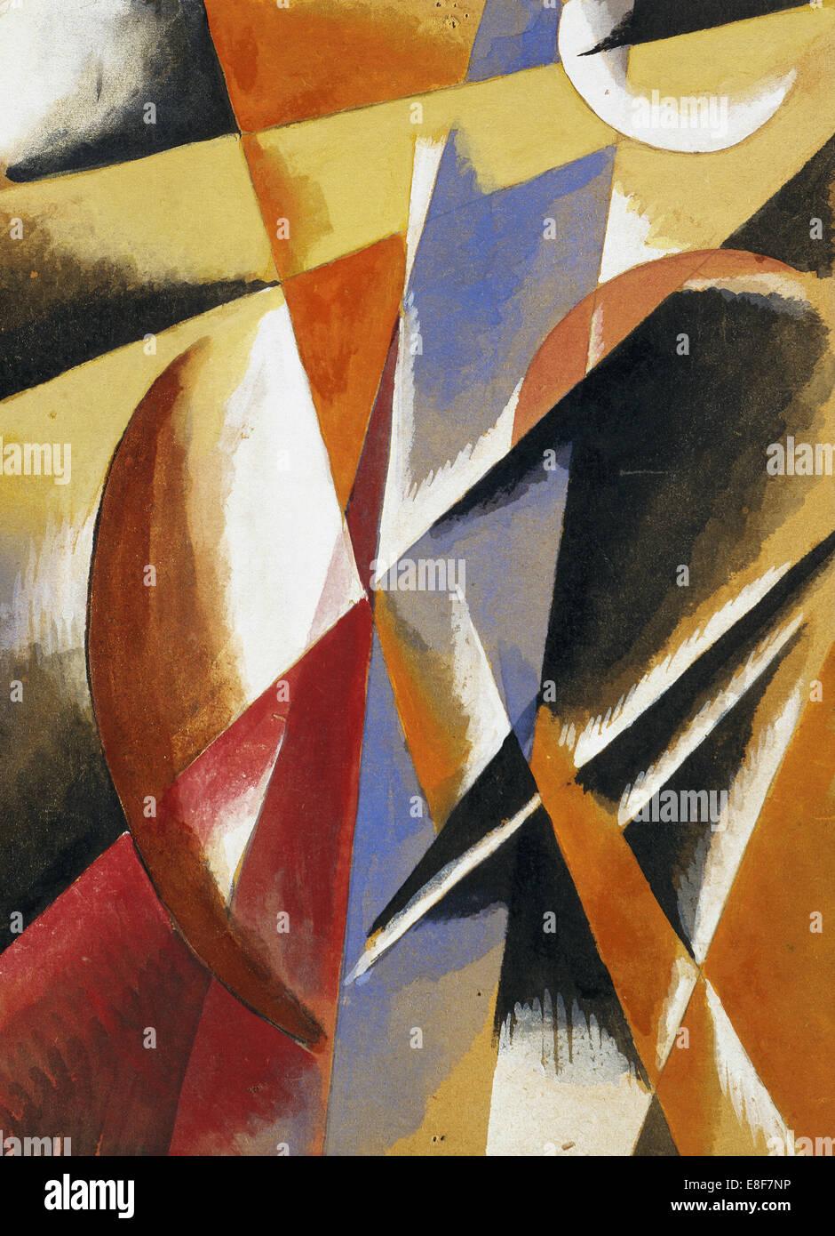 Composition. Artist: Popova, Lyubov Sergeyevna (1889-1924) - Stock Image