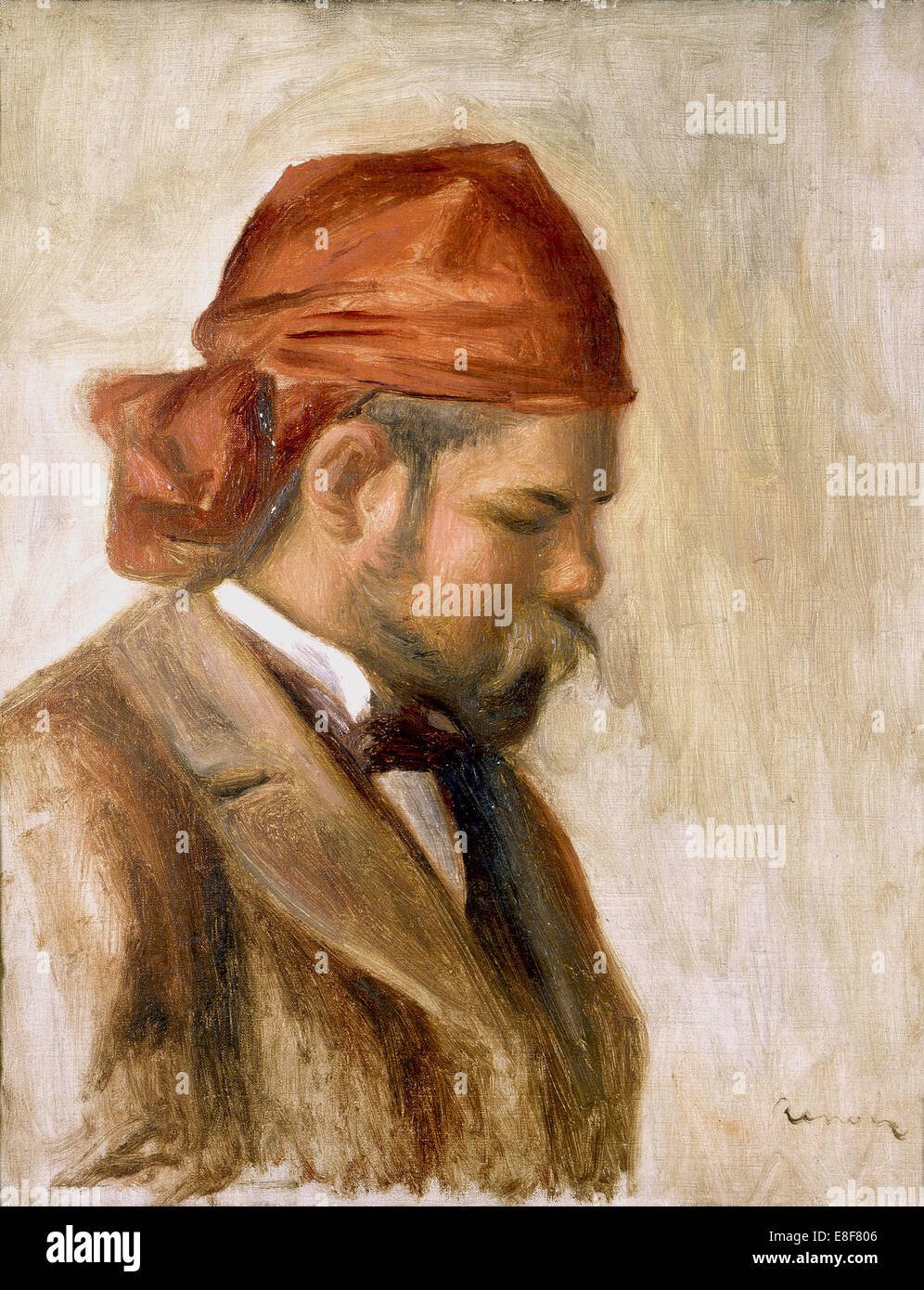 Ambroise Vollard in a Red Bandana. Artist: Renoir, Pierre Auguste (1841-1919) - Stock Image