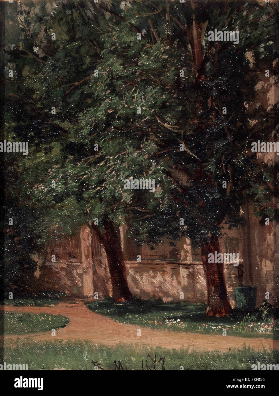Near the Tretiakov's House. Artist: Maximov, Vasili Maximovich (1844-1911) - Stock Image