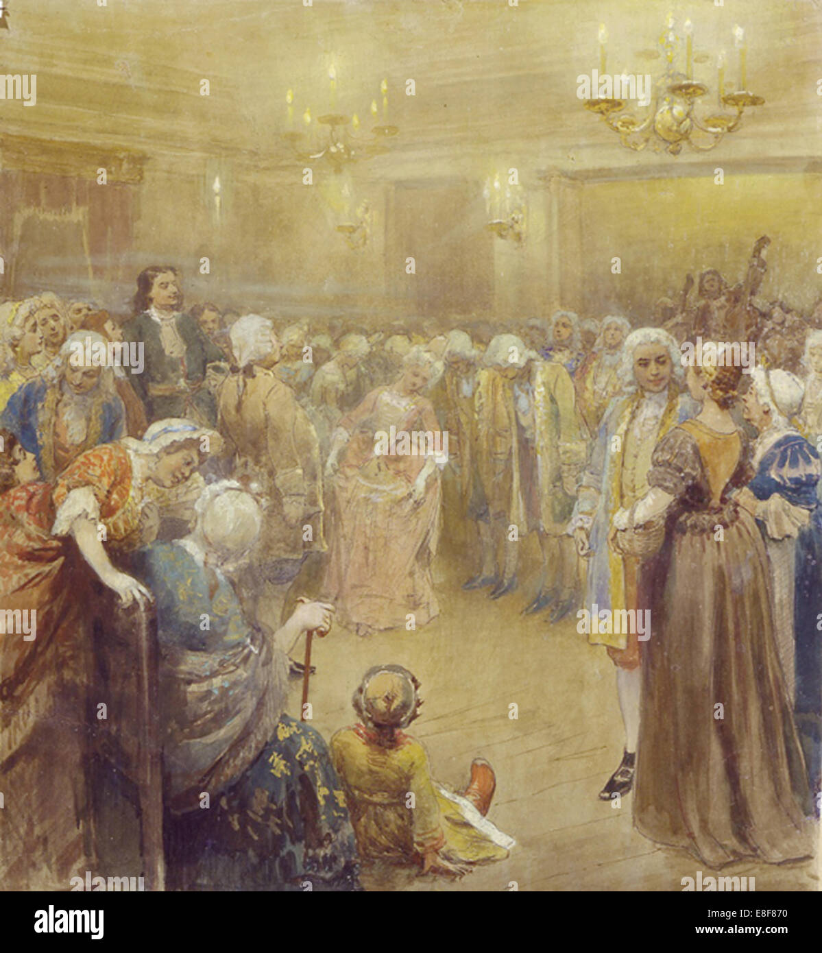 The Assembly at the time of Peter I. Artist: Lebedev, Klavdi Vasilyevich (1852-1916) - Stock Image
