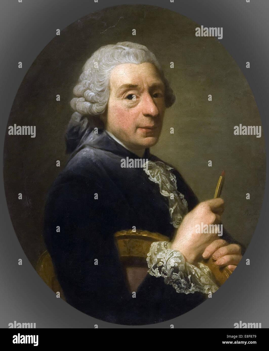 Portrait of François Boucher (1703-1770). Artist: Roslin, Alexander (1718-1793) - Stock Image