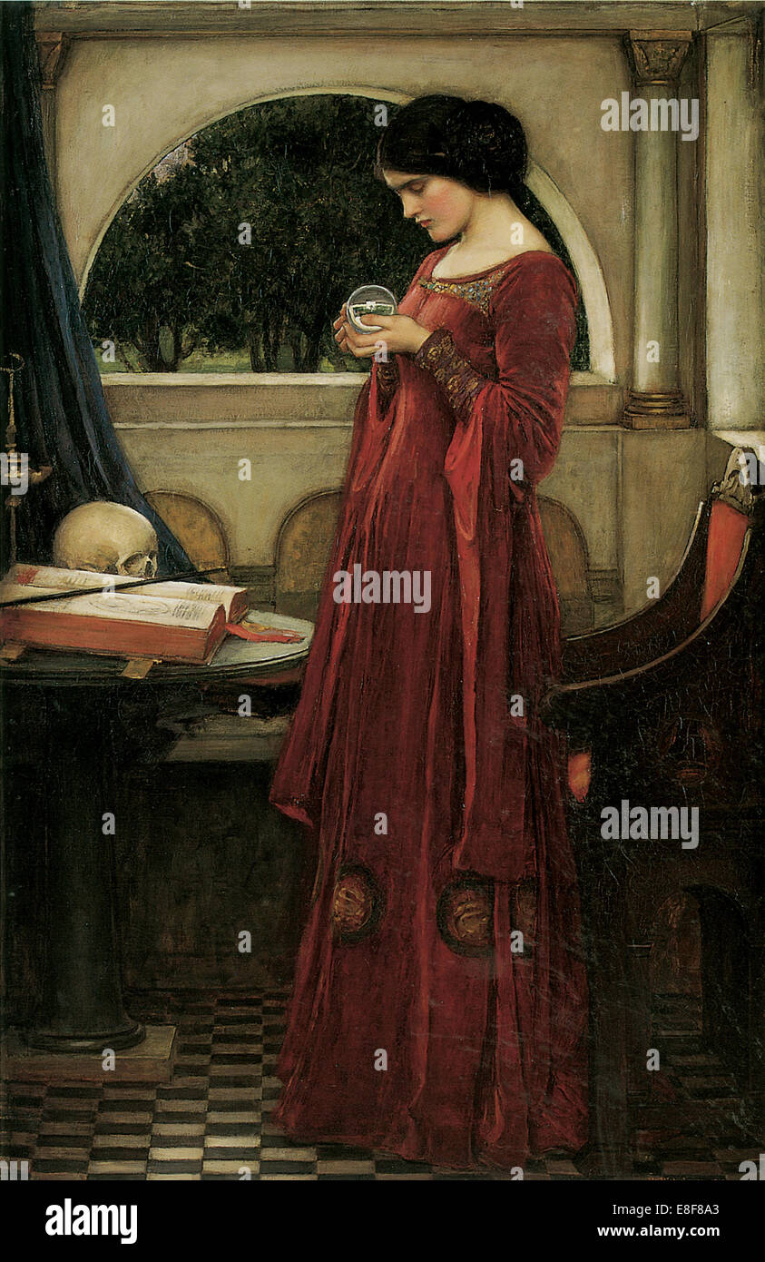 The Crystal Ball. Artist: Waterhouse, John William (1849-1917) - Stock Image