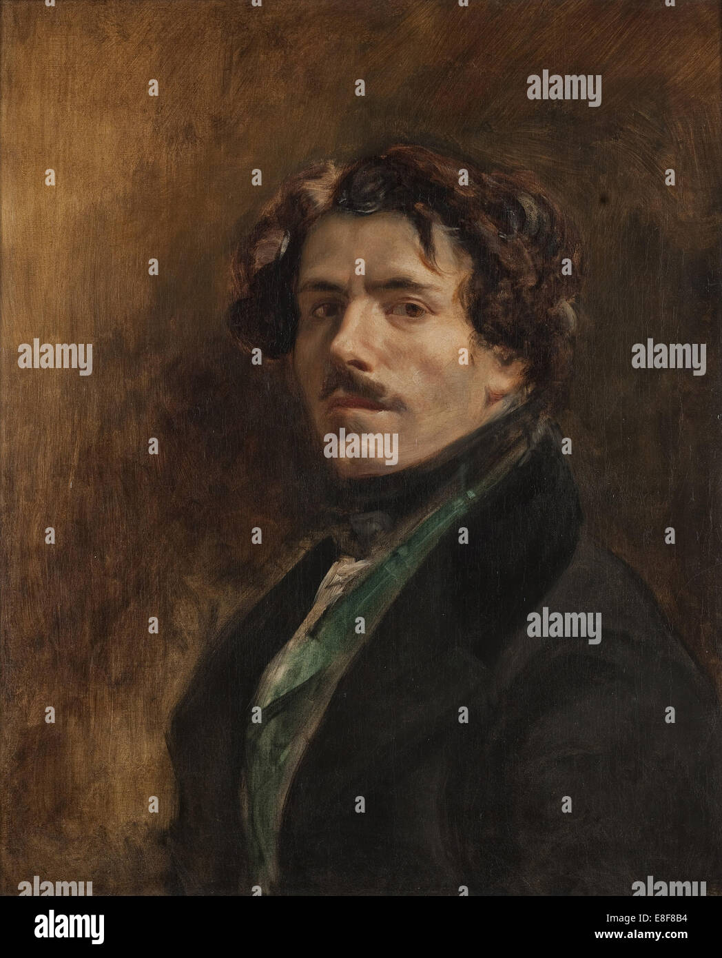Self-Portrait. Artist: Delacroix, Eugène (1798-1863) Stock Photo