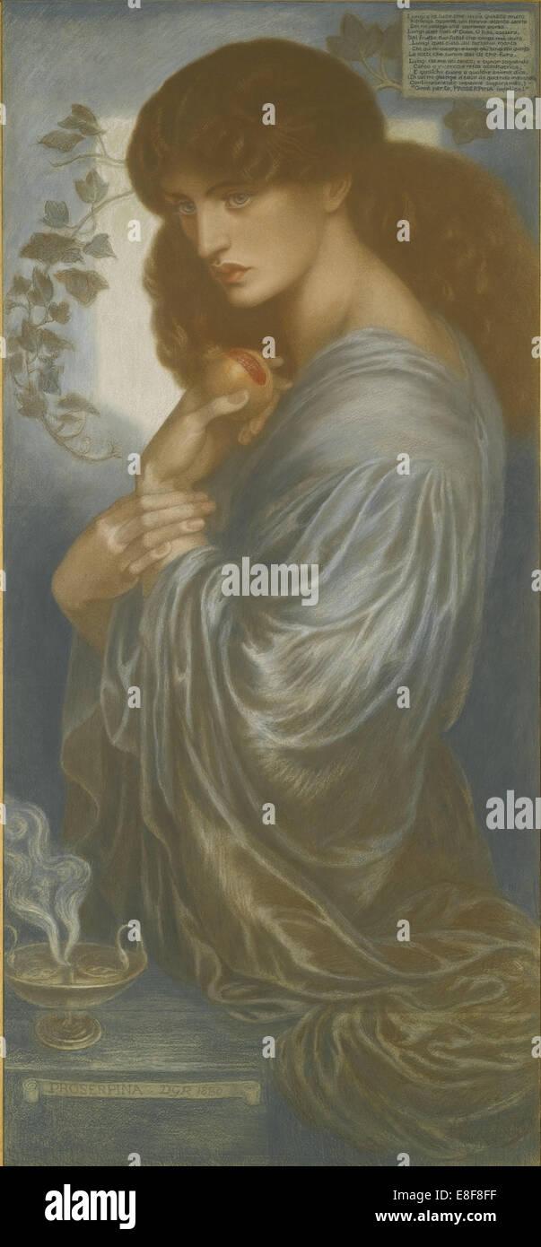 Proserpine. Artist: Rossetti, Dante Gabriel (1828-1882) - Stock Image