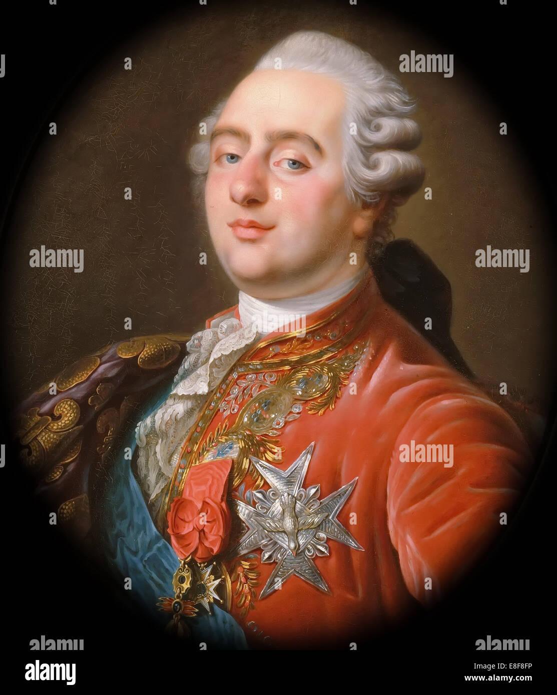 Portrait of the King Louis XVI (1754-1793). Artist: Callet, Antoine-François (1741?1823) - Stock Image