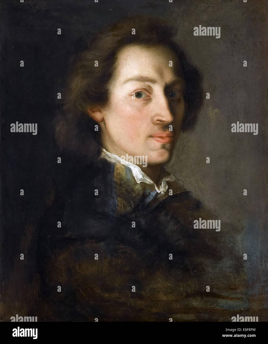 Portrait of Frédéric Chopin. Artist: Scheffer, Ary (1795-1858) - Stock Image