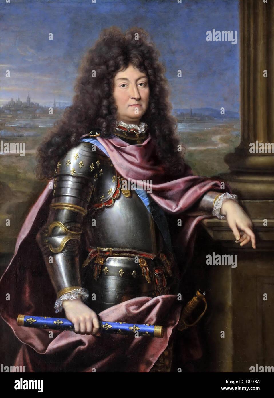 Louis XIV, King of France (1638-1715). Artist: Mignard, Pierre (1612-1695) - Stock Image