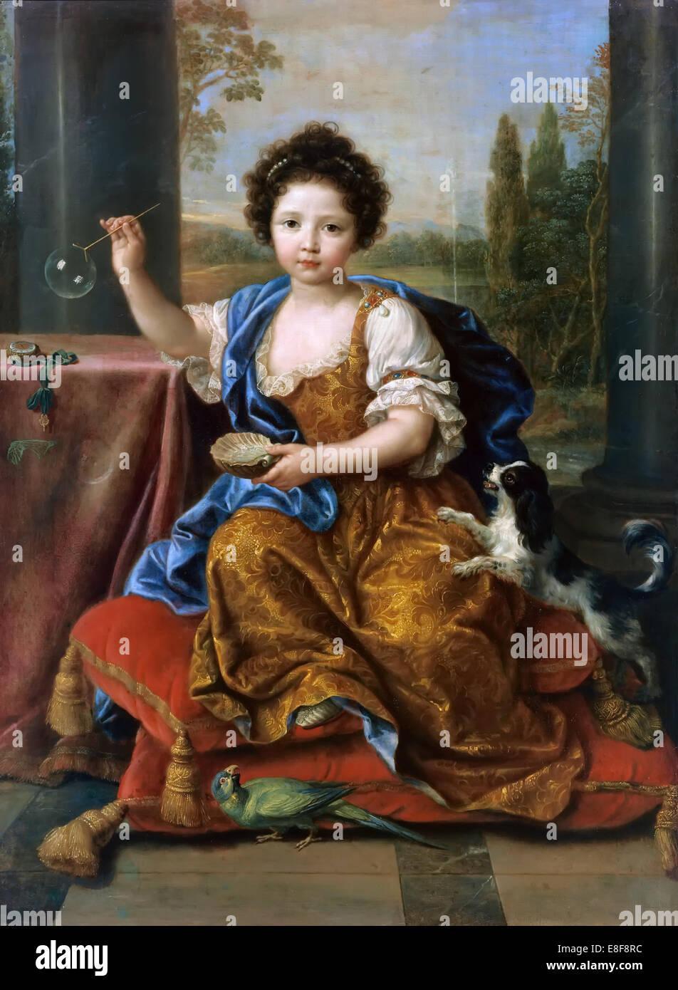Louise Marie de Bourbon (1674-1681), duchesse d'Orléans. Artist: Mignard, Pierre (1612-1695) - Stock Image