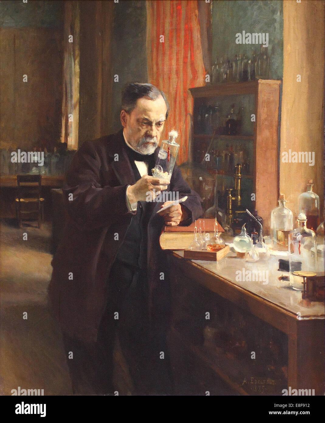 Louis Pasteur. Artist: Edelfelt, Albert Gustaf Aristides (1854-1905) Stock Photo