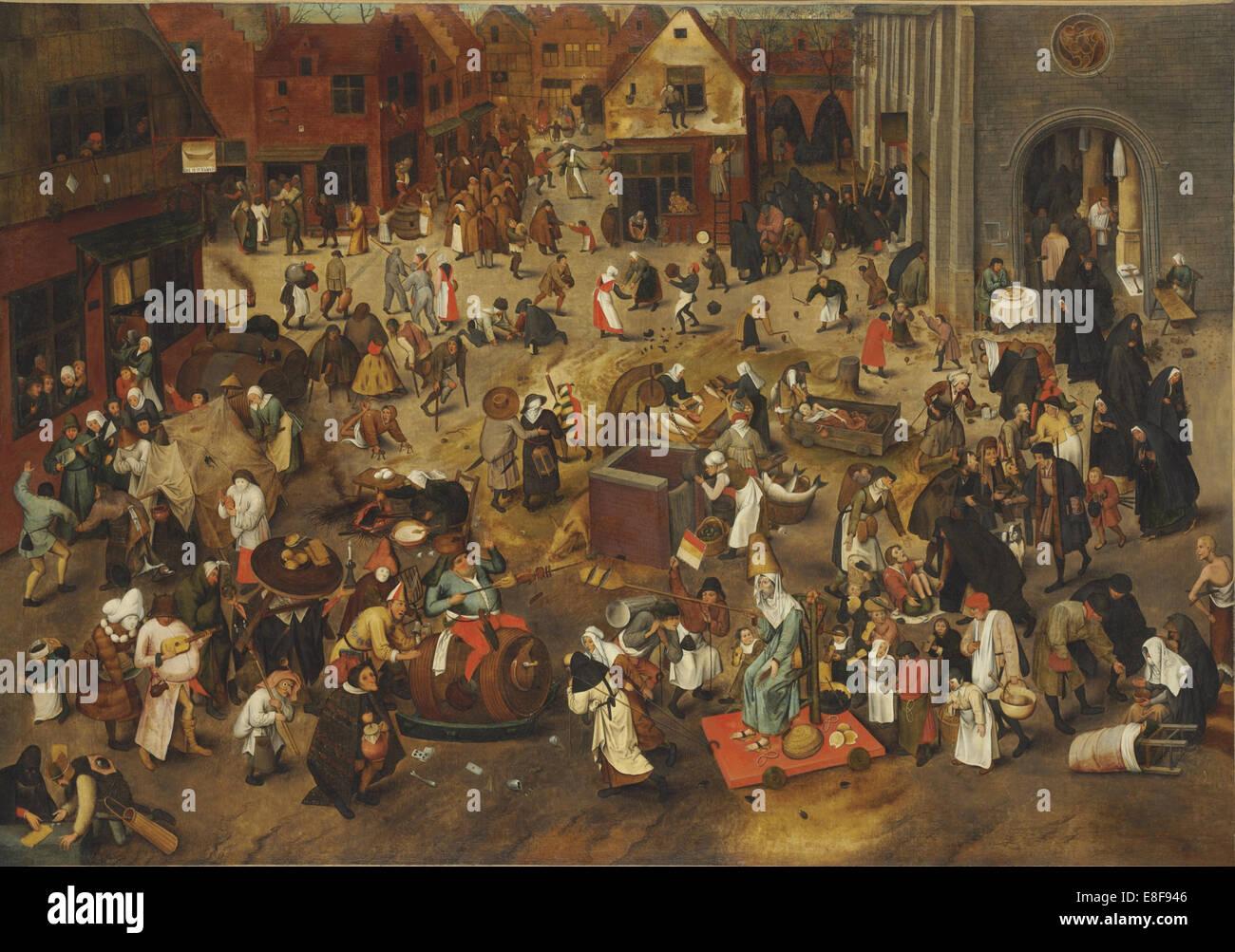 The Fight Between Carnival and Lent. Artist: Bruegel (Brueghel), Pieter, the Elder (ca 1525-1569) - Stock Image