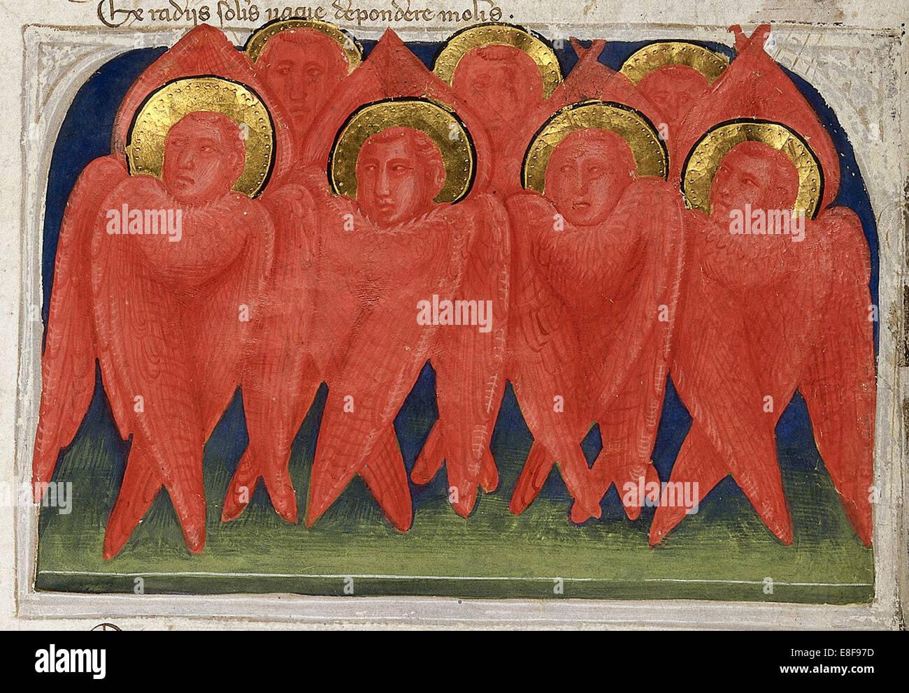 Seraphs (From Regia Carmina by Convenevole da Prato). Artist: Pacino di Buonaguida (active 1302-1343) - Stock Image