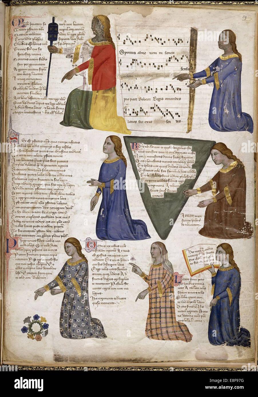 The Seven Liberal Arts (From Regia Carmina by Convenevole da Prato). Artist: Pacino di Buonaguida (active 1302-1343) - Stock Image