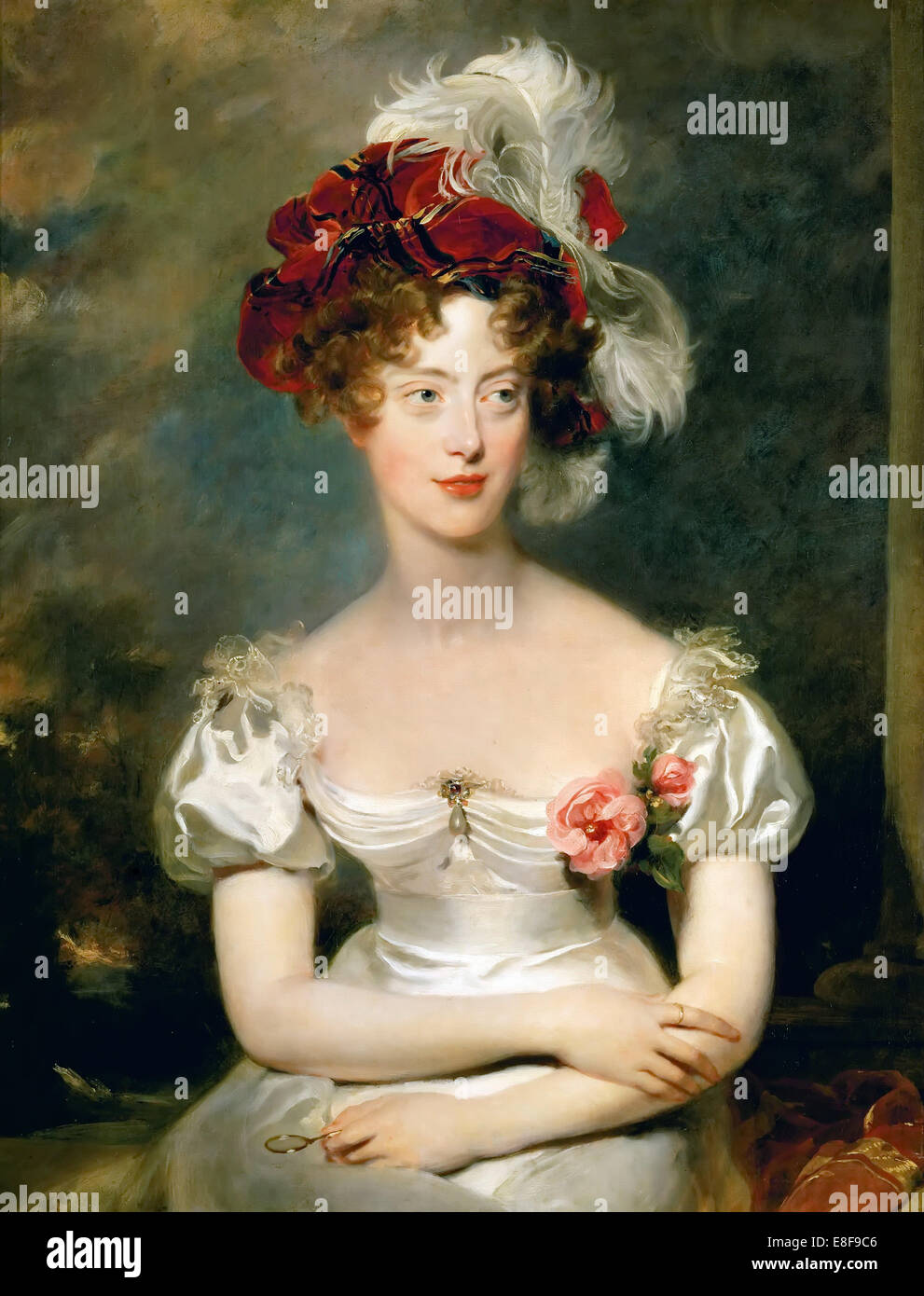 Princess Caroline of Naples and Sicily (1798-1870), Duchesse de Berry. Artist: Lawrence, Sir Thomas (1769-1830) - Stock Image