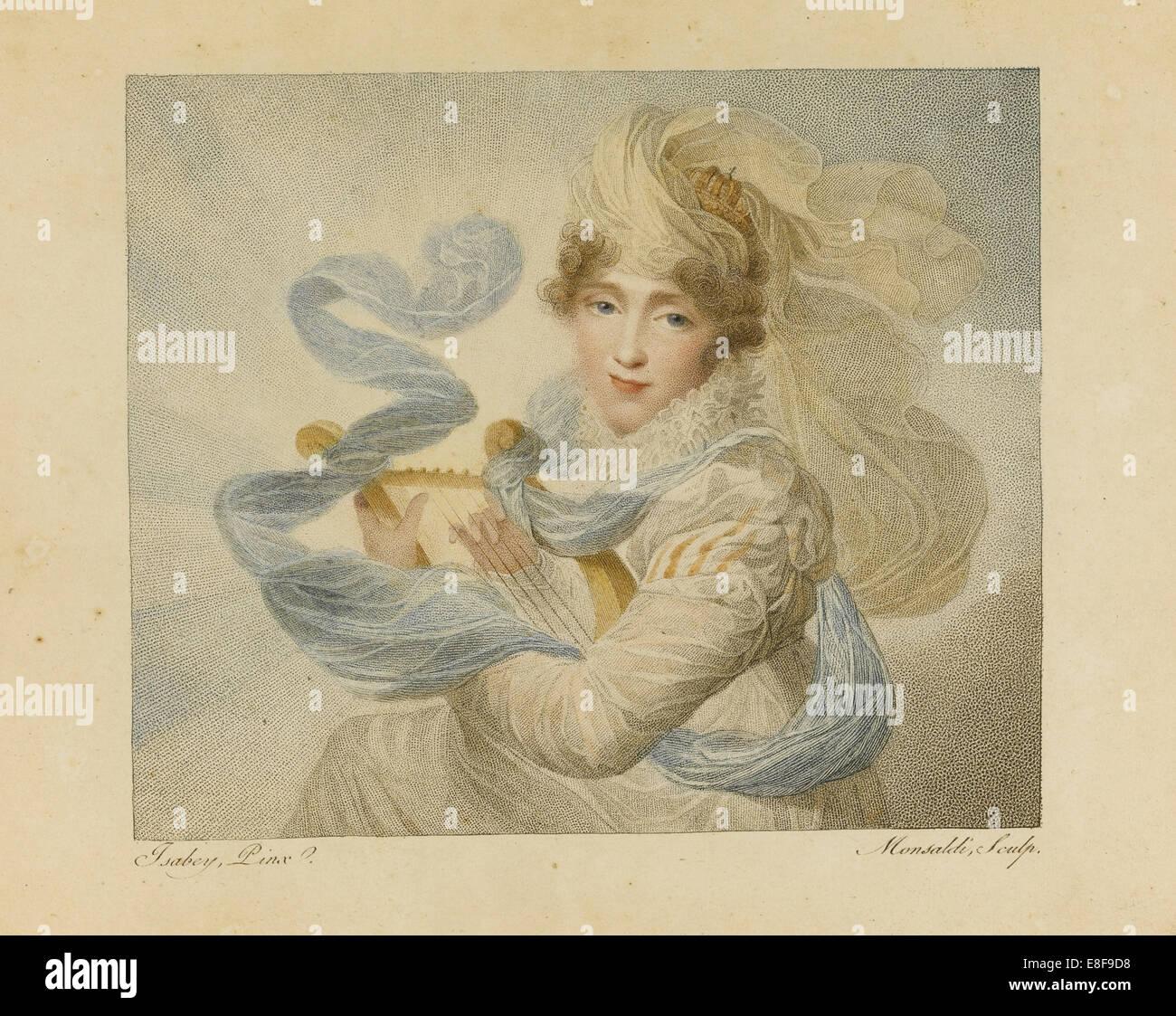 Hortense de Beauharnais. Artist: Monsaldi, Antoine Maxime (1768-1816) - Stock Image